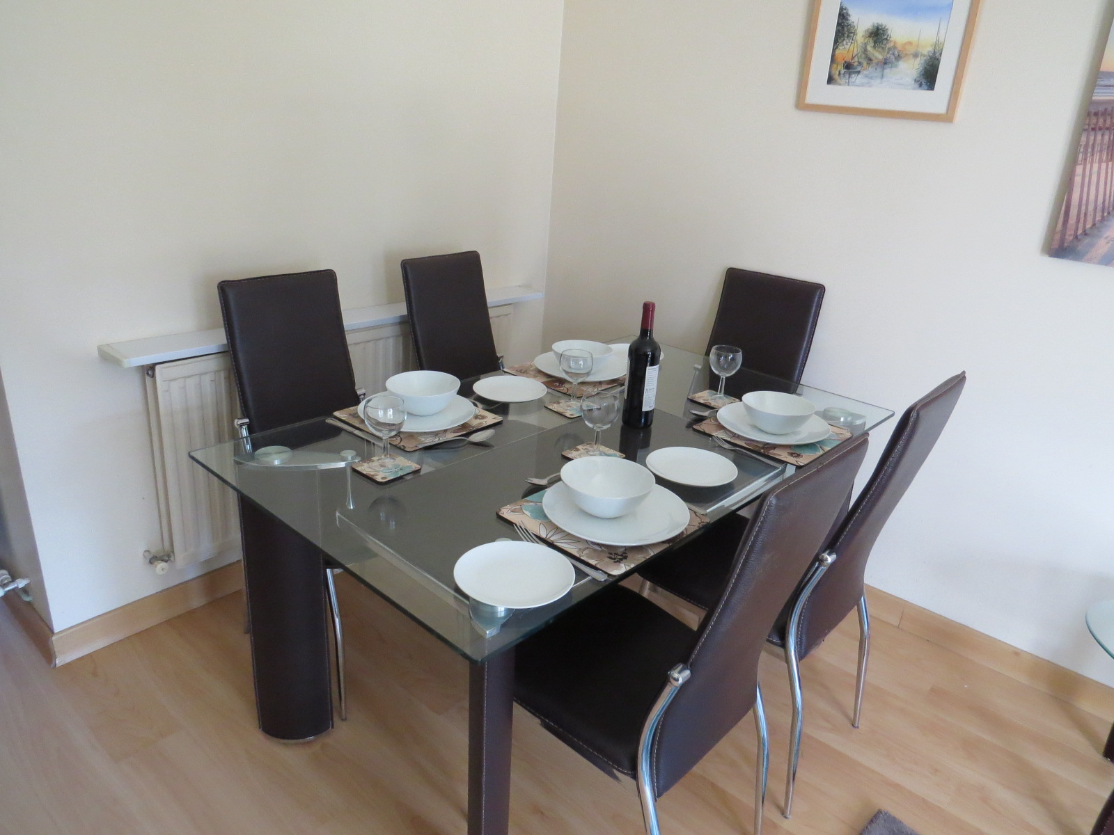 Dining area in Colborne holiday home