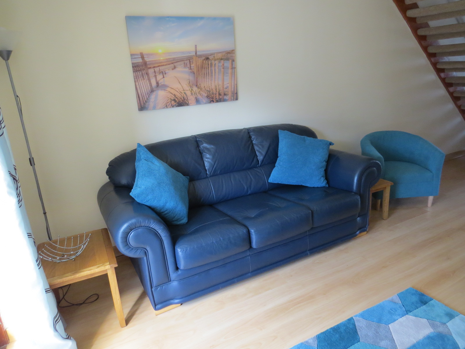 3 seater sofa and tub seat in Colborne Holiday let